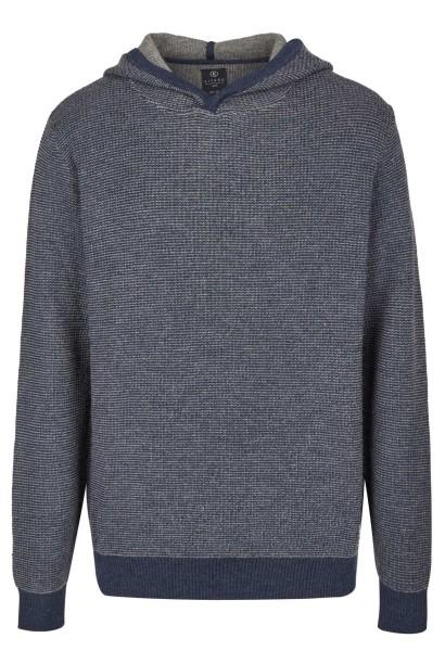 Extra Lang, Pullover mit Kaputze in Blau von Kitaro