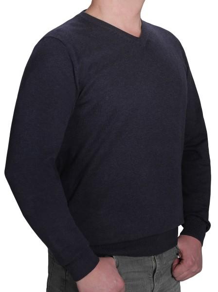 K I T A R O Pullover V-Ausschnitt Blau in EXTRALANG