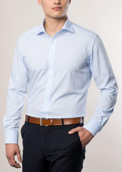 Hemden Extra langer Arm 72 cm, E T E R N A Modern Fit, Hellblau