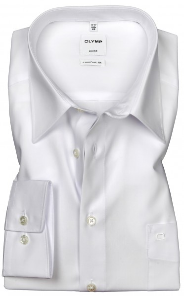 OLYMP Extra langer Arm 69 cm, Hemden Luxor comfort fit, Weiß