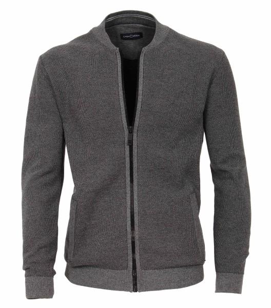 Casa Moda Strick-Jacke in Grau , EXTRALANG, Rumpf und Ärmel