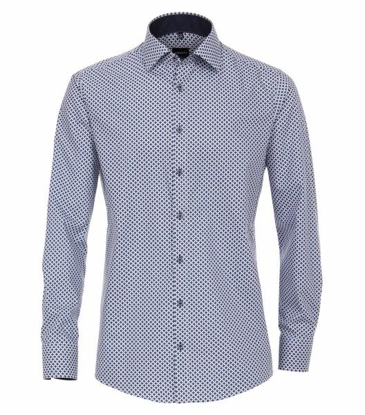 Hemden Extra langer Arm 72 cm, Venti Modern Fit, Gemustert