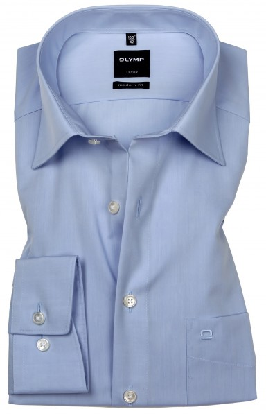 OLYMP Hemden Extra langer Arm 69 cm, Luxor modern fit, Hellblau