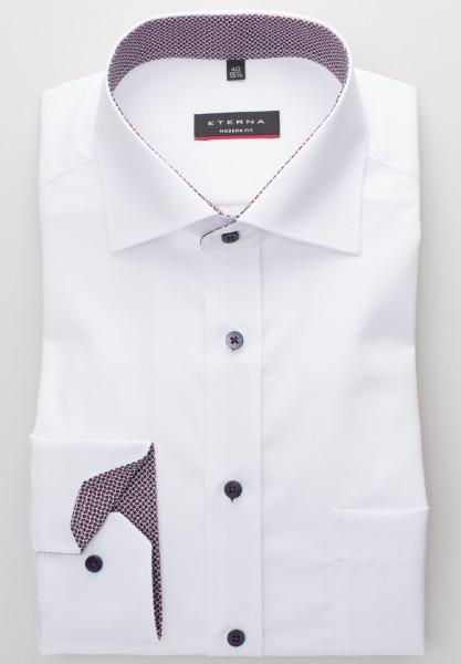 Hemden Extra langer Arm 68 cm, E T E R N A Modern Fit, modisch Weiß