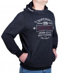 K I T A R O Sweatshirt mit Kaputze Navy-- EXTRALANG
