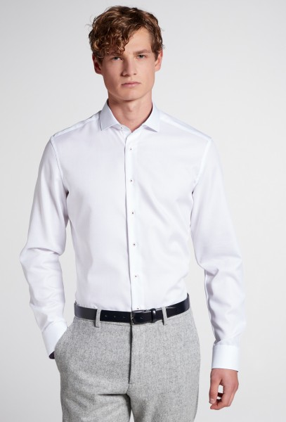 Extra langer Arm 72 cm, Hemd Eterna Slim Fit, Weiß