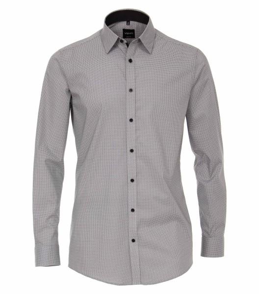 Hemden Extra langer Arm 72 cm, Venti Body Fit, Gemustert Schwarz