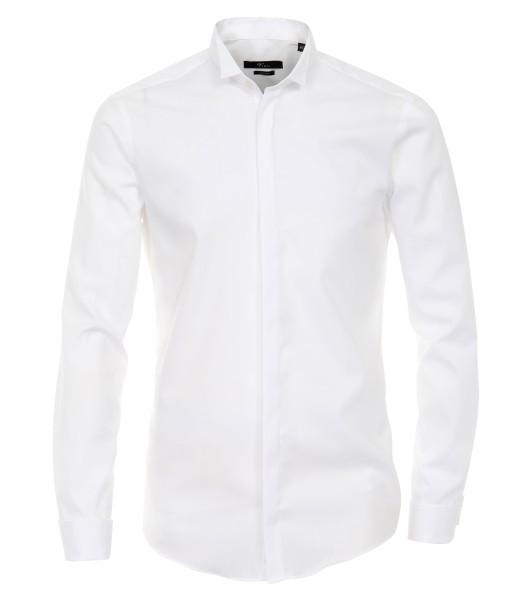 """Hemd Venti """"slim fit"""" mit Kläppchenkragen Weiß Extra langer Arm 72cm"""