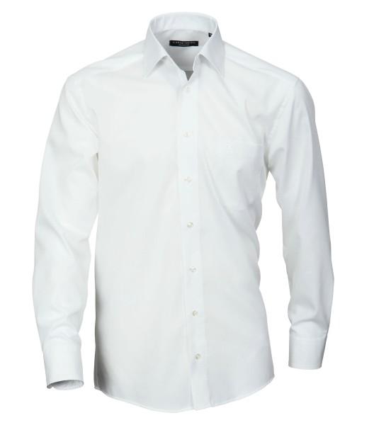 Hemd Casa Moda Comfort Fit Weiß Extra langer Arm 72 cm