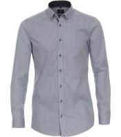 Hemden Extra langer Arm 72 cm, Venti Body Fit, Gemustert Hellblau