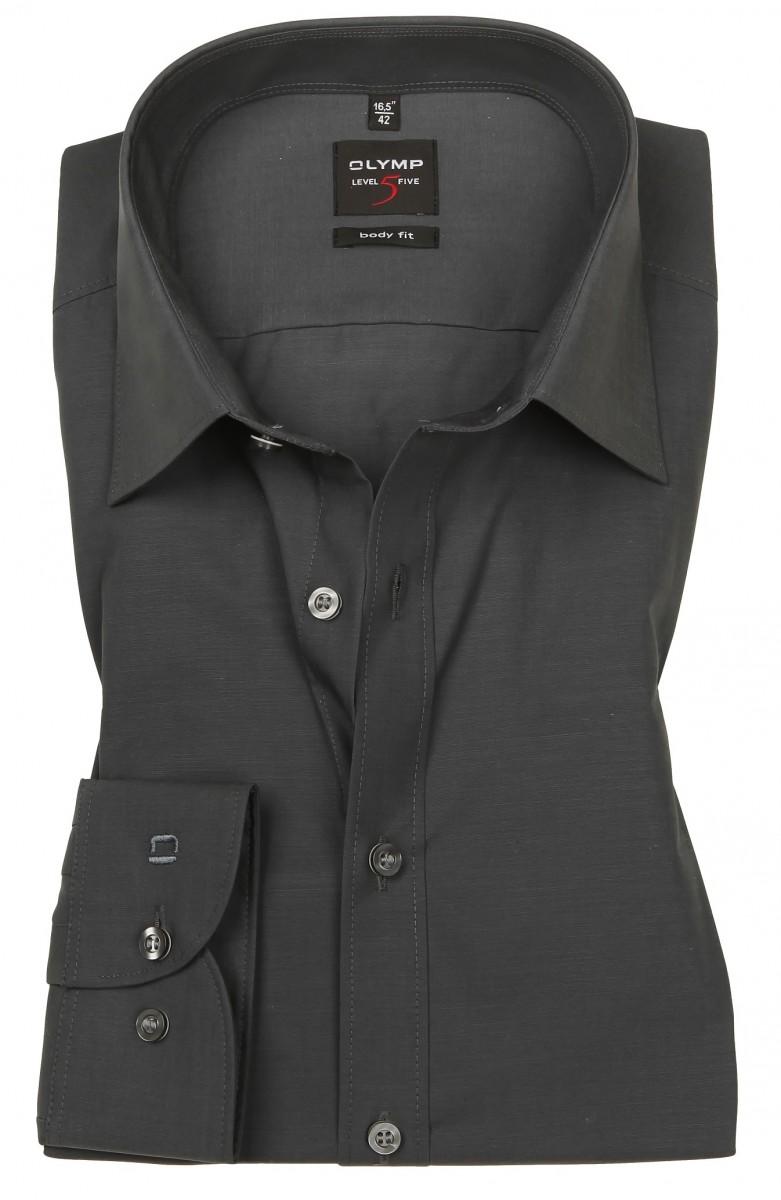 hemd olymp level five body fit anthrazit extra langer arm. Black Bedroom Furniture Sets. Home Design Ideas