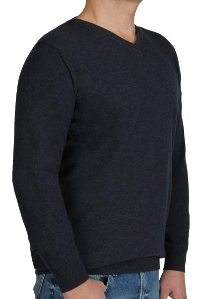 Kitaro Herren Strick-Pullover, Extra Langer Arm, Dunkelblau