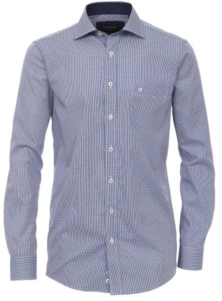 Hemd Extra langer Arm 69 cm, Casa Moda Comfort Fi, Kariert Blau/Weiß