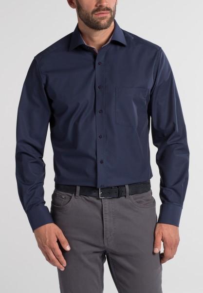 Hemden Extra langer Arm 68 cm, E T E R N A Modern Fit, modisch Marine