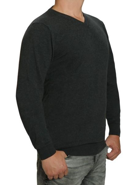 Extra langer Pullover, K I T A R O-V-Ausschnitt, in Anthrazit