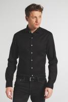 Hemden Extra langer Arm 72 cm, E T E R N A Slim Fit, Schwarz