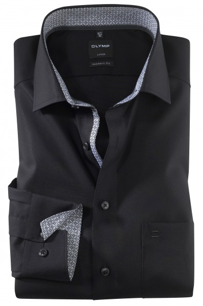 OLYMP Extra langer Arm 69 cm, Hemden Luxor modern fit, modisch schwarz
