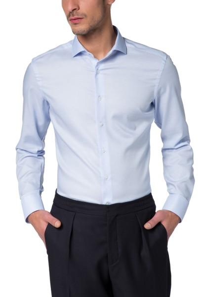 Hemden Extra langer Arm 72 cm, Eterna Hemd, Slim Fit, Struktur Hellblau