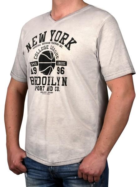 T-Shirt KITARO Grau -- extra lang