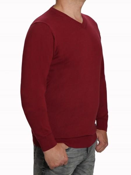Extra langer Pullover, K I T A R O-V-Ausschnitt, in Rot
