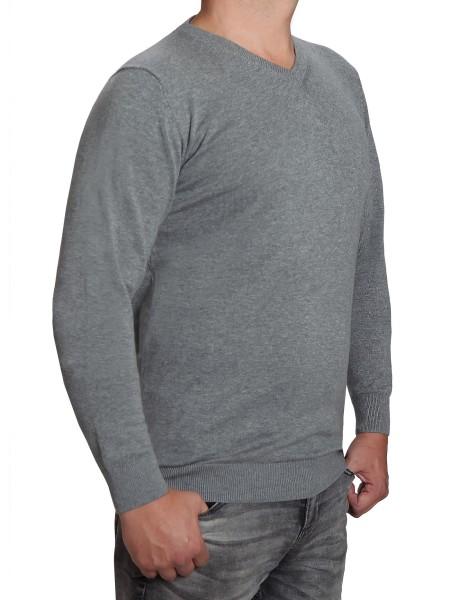 Extra langer Pullover, K I T A R O-V-Ausschnitt, in Grau