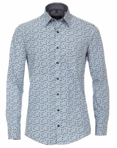 Freizeithemd, Extra langer Arm 72 cm, Casa Moda Casual Fit, Gemustert Türkis
