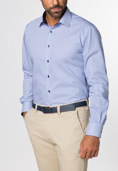 Hemden Extra langer Arm 68 cm, E T E R N A Modern Fit, Streifen Blau/Weiß