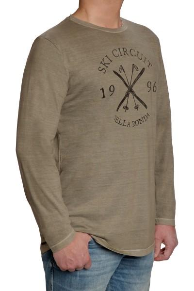 Langarm T-Shirt KITARO, Rundhals- EXTRALANG