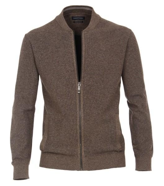 Casa Moda Strick-Jacke in EXTRALANG, Rumpf und Ärmel, Braun