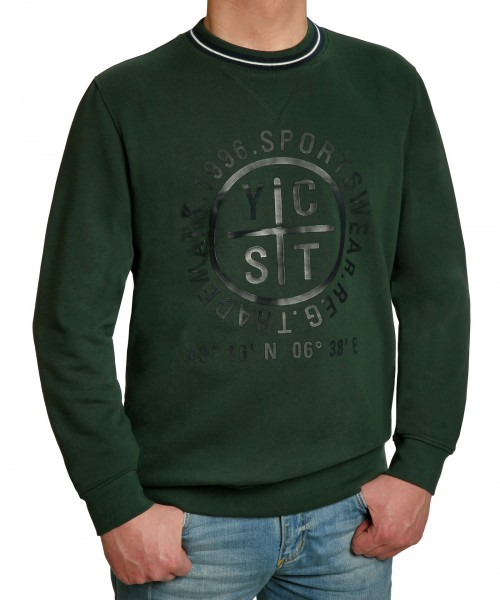 Sweatshirt KITARO grün mit Aufdruck - EXTRALANG