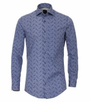Hemden Extra langer Arm 72 cm, Venti body fit, Gemustert Blau