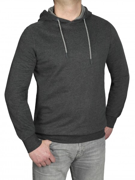 Extra Lang, Sweatshirt mit Kaputze in Anthrazit von Kitaro