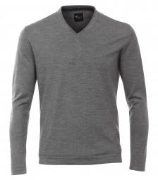Venti Pullover V-Ausschnitt Grau- EXTRALANG