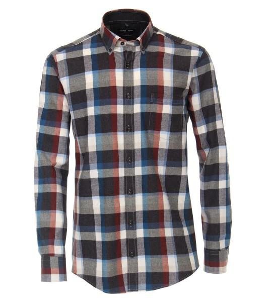 FLANELL-Freizeithemd, Extra langer Arm 69 cm, Casa Moda Casual Fit, Kariert