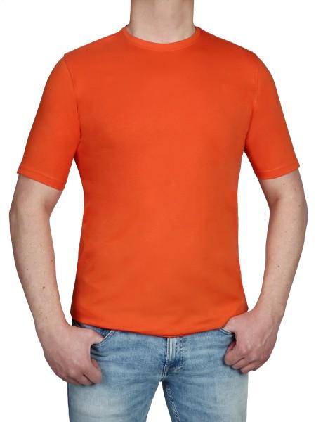 T-Shirt KITARO Rundhals Terra- Extra Lang