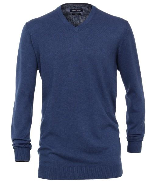 Casa Moda Pullover V-Ausschnitt Blau EXTRALANG
