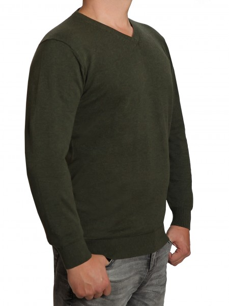 Extra langer Pullover, K I T A R O-V-Ausschnitt, in Grün