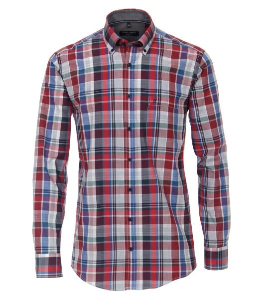 Freizeithemd, Extra langer Arm 72 cm, Casa Moda Casual Fit, Kariert Rot