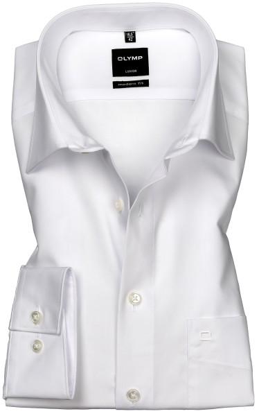 OLYMP Extra langer Arm 72 cm, Hemd Luxor modern fit, Weiß