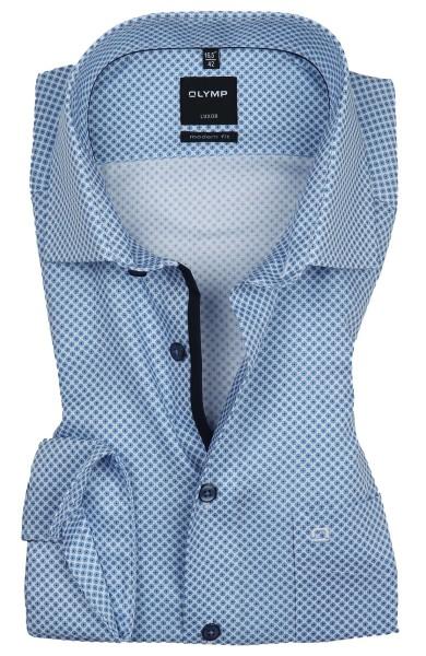 OLYMP Extra langer Arm 69 cm, Hemden Luxor modern fit, gemustert hellblau
