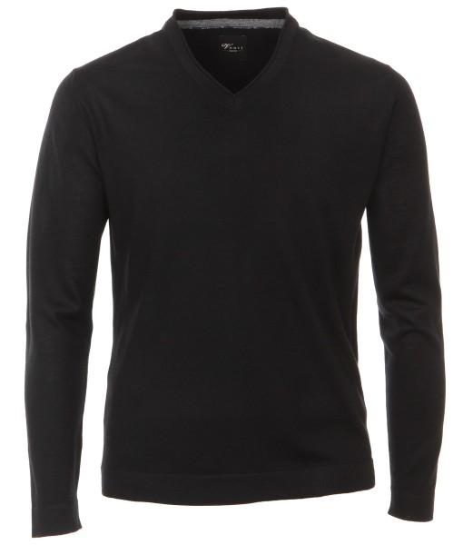 Pullover Extra langer Arm 72 cm, Venti, Schwarz