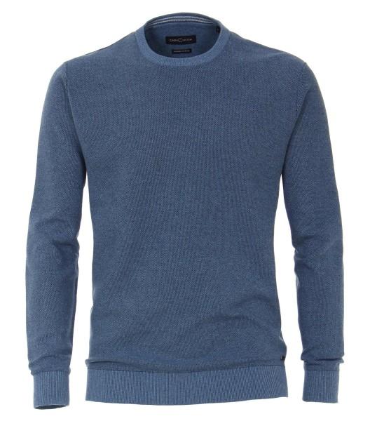 Casa Moda Pullover mit Rundhals, Blau EXTRALANG