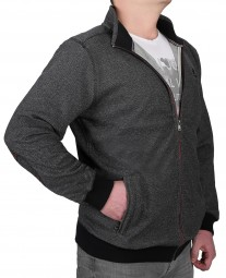 K I T A R O Sweatshirt-Jacke in Anthrazit in EXTRALANG