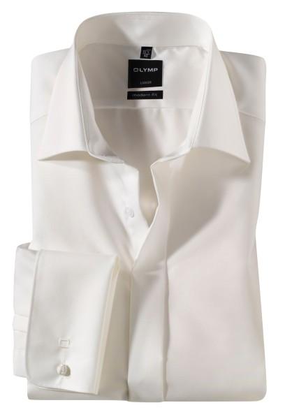 OLYMP Extra Langer Arm 70 cm, Hemd EL, Luxor modern fit, Umschlagmanschetten, Beige