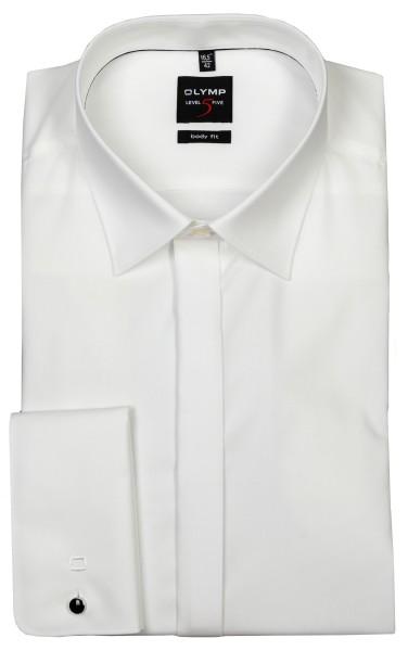 OLYMP Extra langer Arm 70 cm, Hemden Level Five body fit, mit Umschlagmanschetten, Beige