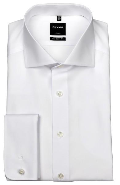 OLYMP Extra langer Arm 70 cm, Hemden Luxor modern fit, Umschlagmanschetten, Weiß