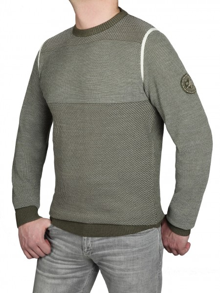 Extra Lang, Pullover in Olive von Kitaro