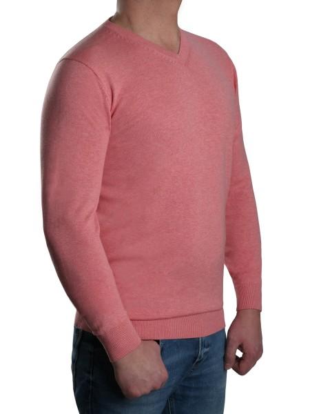 Extra langer Pullover, K I T A R O-V-Ausschnitt, Rosa mel.