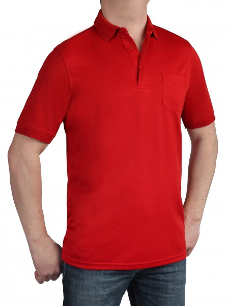 Herren Poloshirt KITARO Rot- Extra Lang