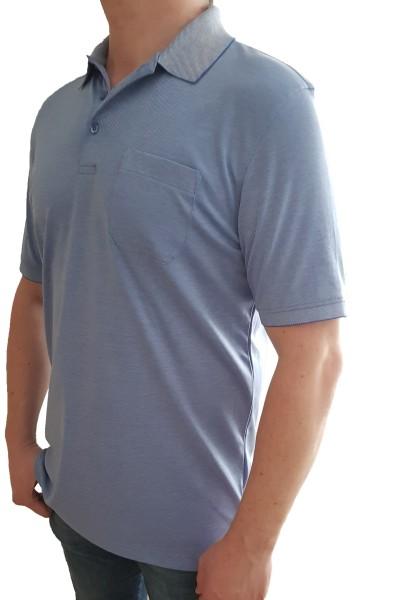 Poloshirt KITARO Hellblau -in EXTRA LANG